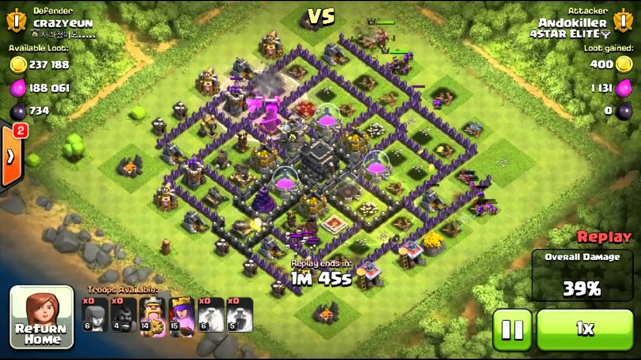 CoC - Mass Hog Rider Attack Strategy - YouTube