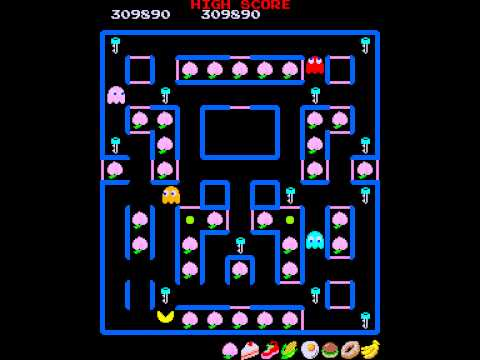 Arcade Game: Super Pac-Man (1982 Namco)