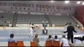 Emotional Final Touch Olympic Qualifying Fencing