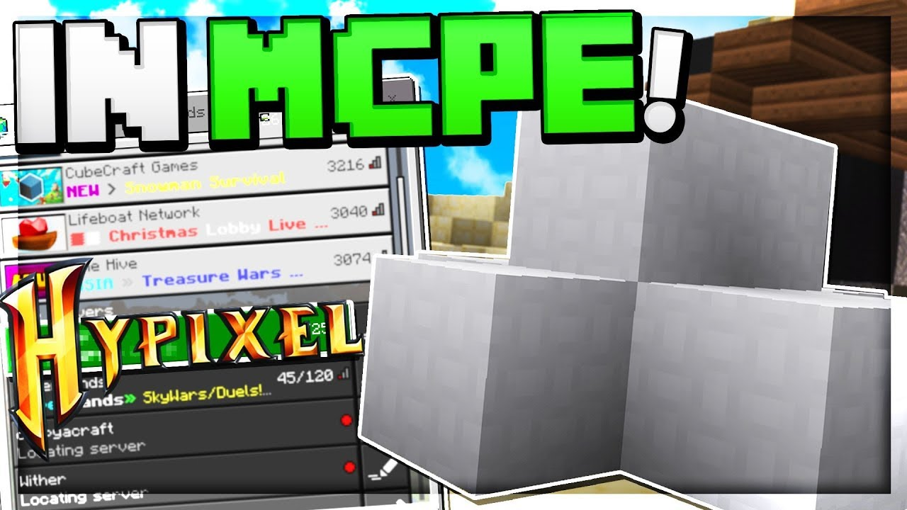 Hypixel Bedwars Server In Mcpe Minecraft Pocket Edition Xbox Windows 10 Youtube