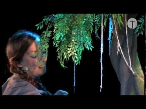 Rbol higi nico papel teatro youtube - Como hacer un arbol de papel grande ...
