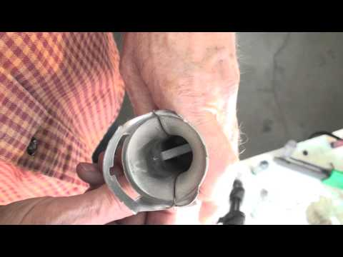 How to clean the ribbon type burner on a gas furnace
