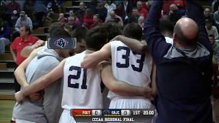 Foothill vs santa rosa junior college men's basketball cccaa regional final 3/3/18