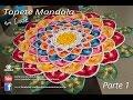 Tapete Redondo de Crochê Mandala parte 1   Professora Simone