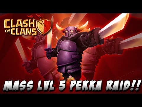 Clash of Clans Max Pekka Raid! INSANE Attack!!