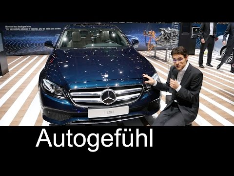 REVIEW Exterior/Interior Mercedes E-Class all-new E220d & E350e Plugin-Hybrid Motor Show