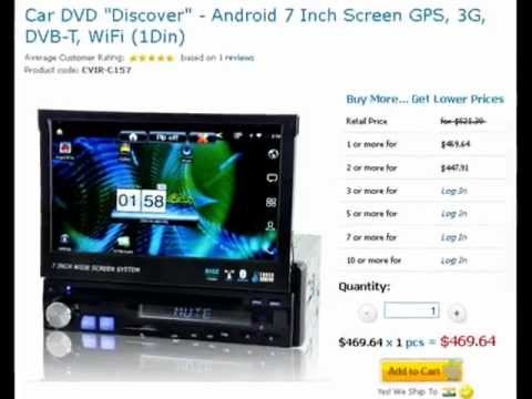 car dvd discover android 7 inch screen gps 3g dvb t wifi 1din youtube. Black Bedroom Furniture Sets. Home Design Ideas