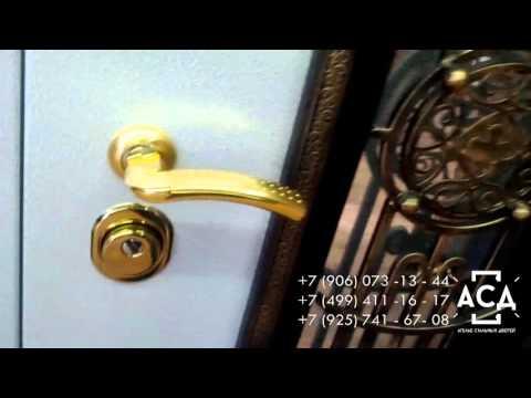 Металлическая дверь для широкого проема с художественной ковкой