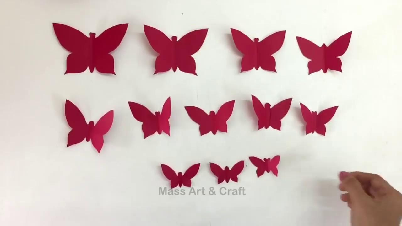 [HANDMADE] Cách Làm bướm và các loại hoa bằng giấy/ PAPER ROSE WALL HANGING