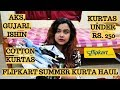 Summer kurtas under Rs. 250 | Affordable kurtas for Office/College | Myntra kurti haul | Flipkart