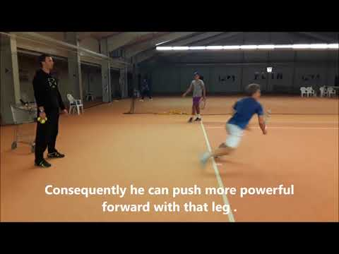 "Tennis Drills - Footwork Drill -""1st step frontal Drill"""