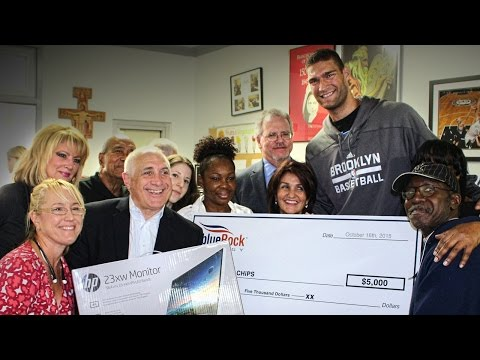 The Hook Up: Brook Lopez at CHiPS Soup Kitchen & Shelter