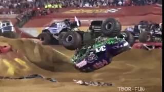Аварии Лучшие моменты Прыжки Monster Truck