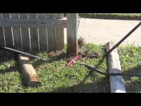 Wood Post Puller - DIY Fence Repair for Posts Set In Concrete Footings