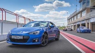 Subaru BRZ racetrack driving (Cabine triple camera view - 4k resolution)
