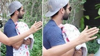 Shahid Kapoor takes his newborn daughter Home | Video