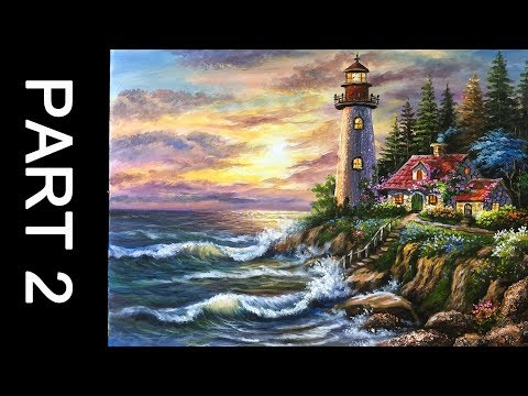 Paint a  lovely Lighthouse in Acrylic – Part 2