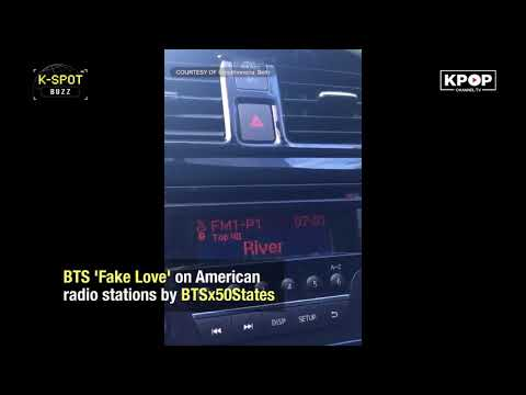 [KPOP MOMENT] BTS 'Fake Love' on American radio stations by BTSx50States