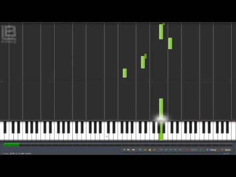 Main Theme - The Walking Dead Piano Tutorial (Synthesia 100% - 50% Speed)