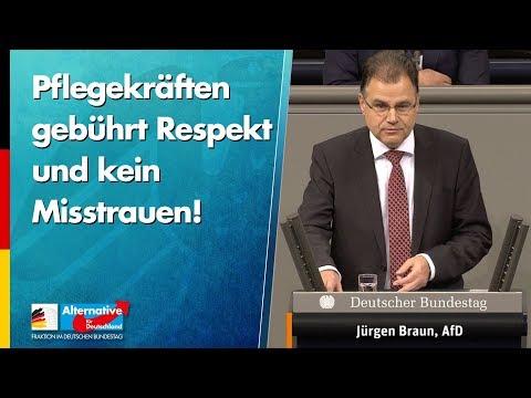Pflegekräften gebührt Respekt und kein Misstrauen! - Jürgen Braun