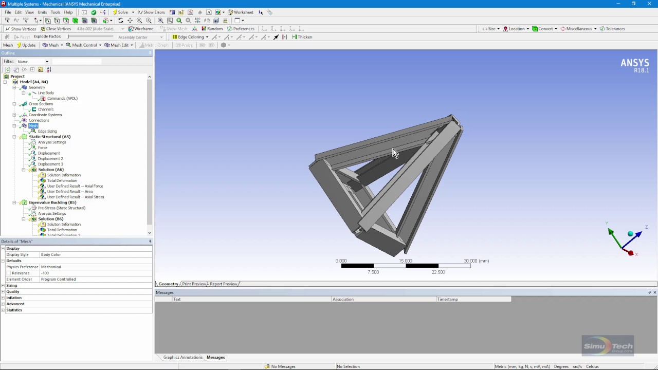How to change BEAM188 Line Bodies into LINK180 Elements in ANSYS Mechanical  Workbench