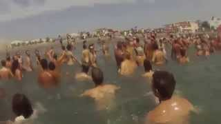 naked beach world record