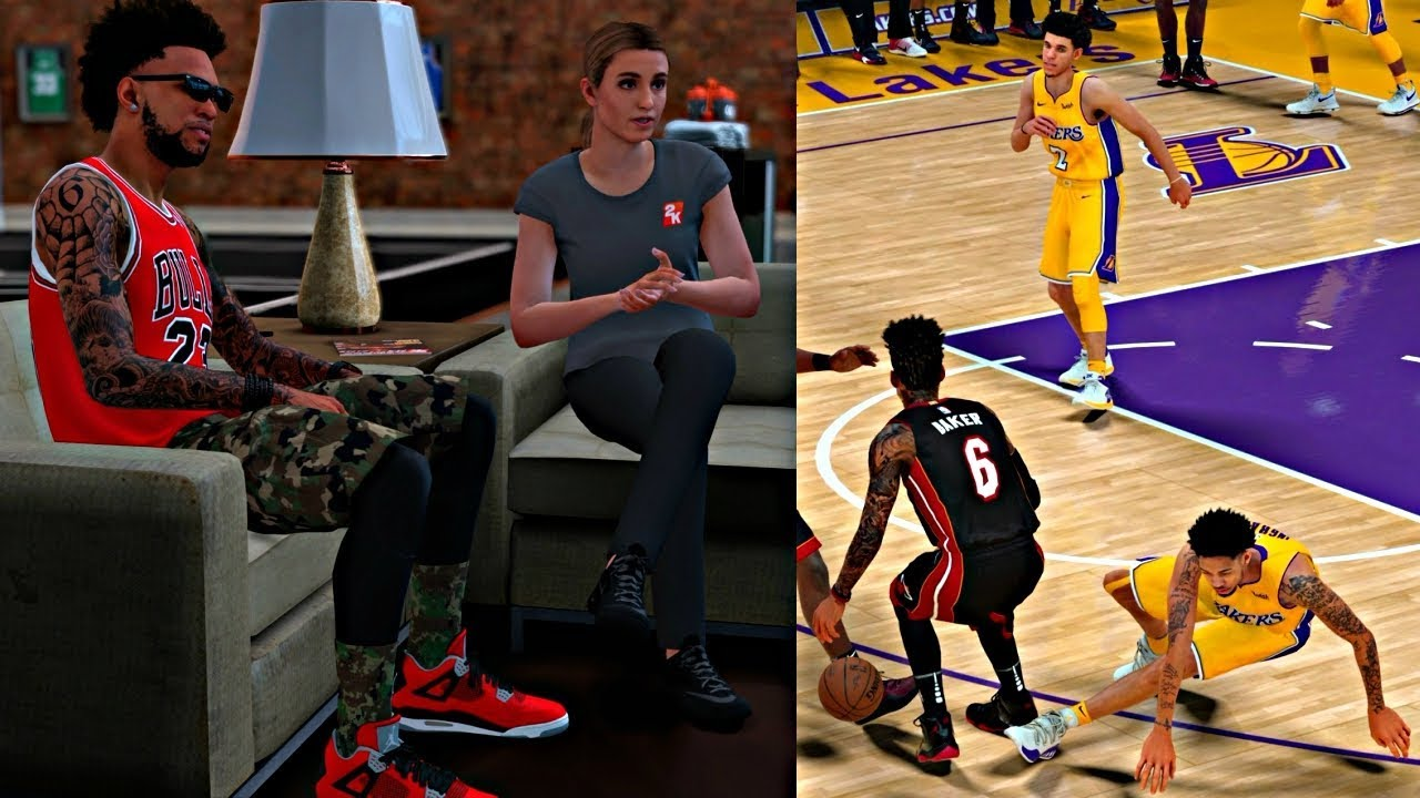 fd779f546d0 CAM IS ON 2KTV W  RACHEL! DROPPING OFF THE LAKERS WHILE KOBE IN THE  BUILDING! - NBA 2K18 MyCAREER