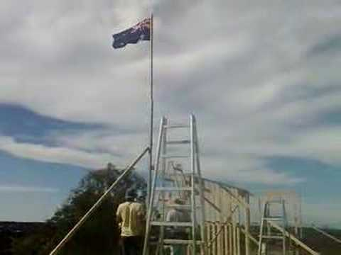 Boonaroo Views - Aussie Flag flies
