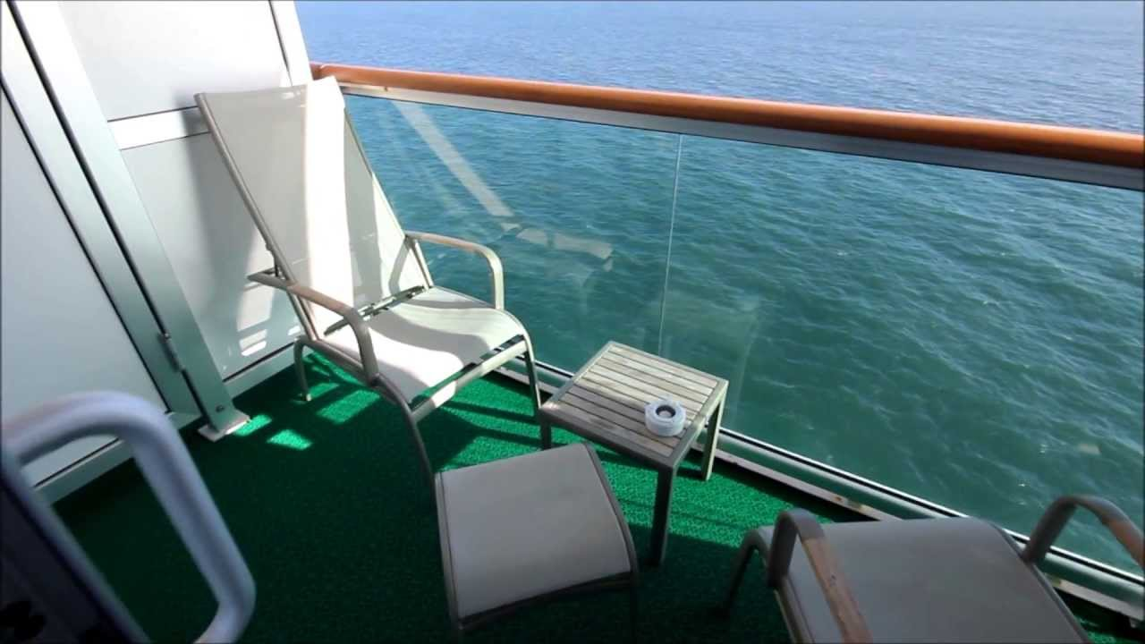 P o cruise ship azura balcony cabin l235 deck 15 2013 for Balcony on cruise ship