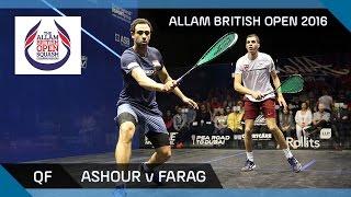 Squash: Ashour v Farag - Allam British Open 2016 - Men's QF Highlights