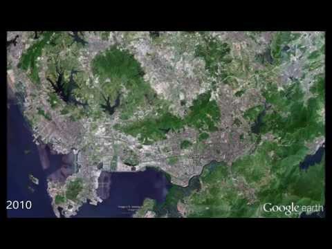 Shenzhen in Google Earth 1979-2015
