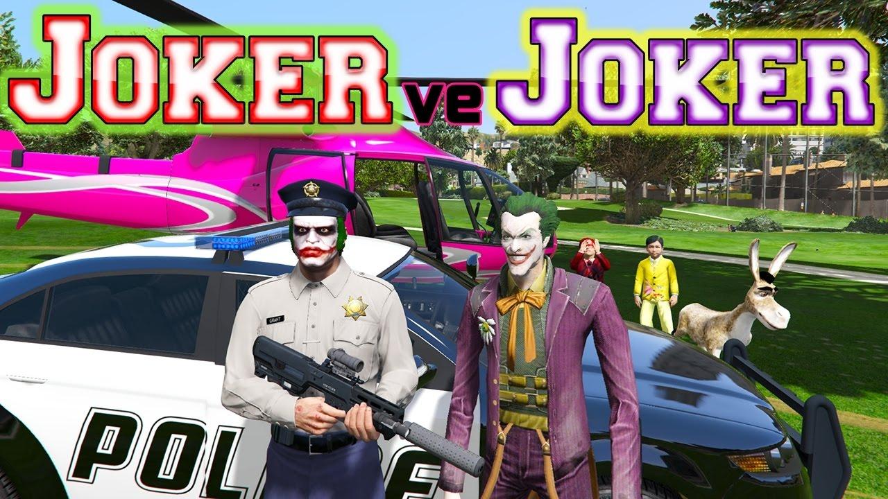 Joker ve Polis Joker ile Maceralı Bir Gün Çizgi Film İzle