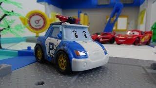 POBOCAR POLI- Play Set- CAR WASH, Build and Review Fun Toys,...