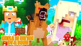 Minecraft Roleplay - Princess Baby Kayla gets BITTEN by a dog!