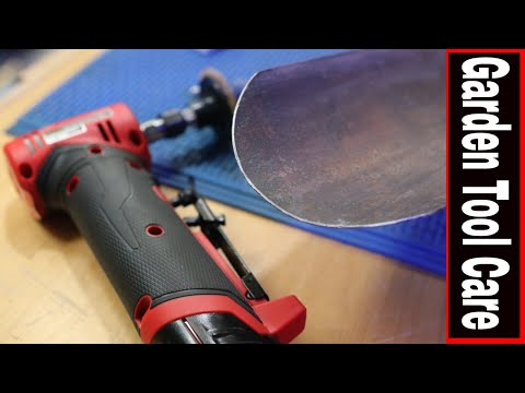 GARDENING TOOL SHARPENING TIPS & MAINTENANCE // GET em READY with M12 FUEL RIGHT ANGLE DIE GRINDER