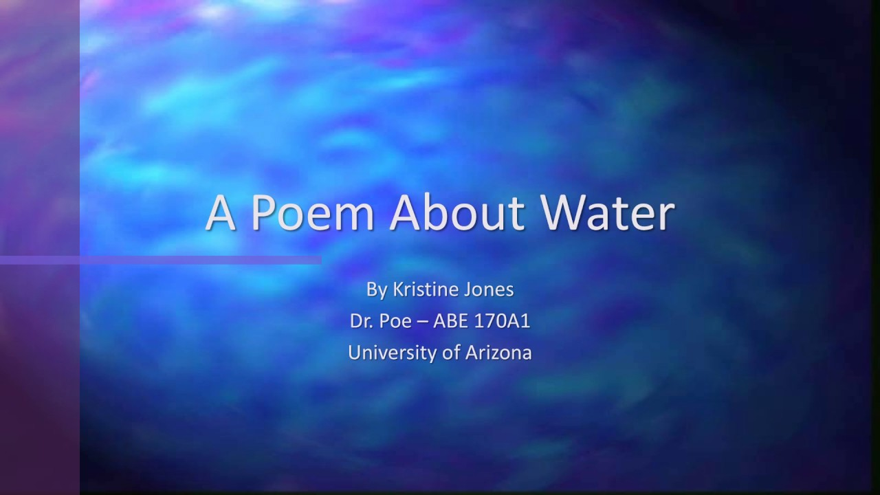 Worksheets Water Poems That Rhyme a poem about water youtube