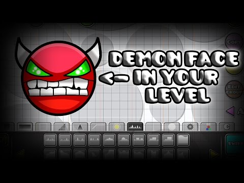 Geometry Dash Tutorial | How To Make A Demon Face In YOUR Level!