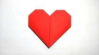 COMO HACER UN CORAZON DE PAPEL - ORIGAMI (Audio Español) - How to make a paper heart san valentin