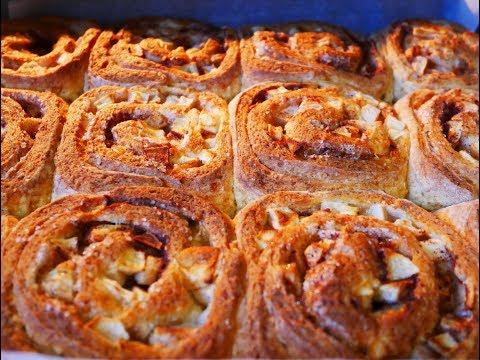 пирог с яблоками с корицей из слоеного теста рецепт с фото