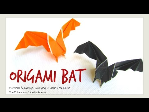 origami bat halloween crafts how to make a paper bat decoration
