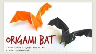 Origami Bat - Halloween Crafts - How To Make A Paper Bat Decoration
