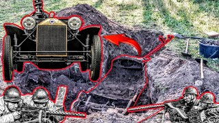 Hidden Treasure Chest turns out to be an 1920s Oldtimer!! Treasure Hunting Extreme!!