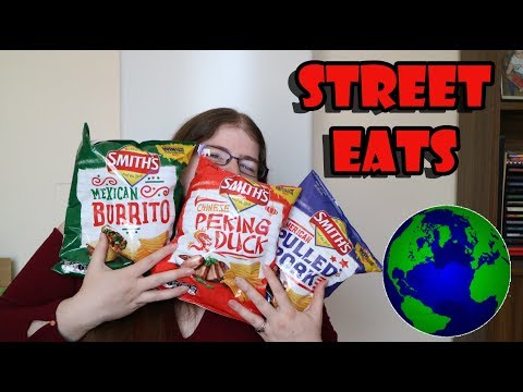 Smith's Street Eats Potato Chips Review - Mexican Burrito Chinese Peking Duck American Pulled Pork