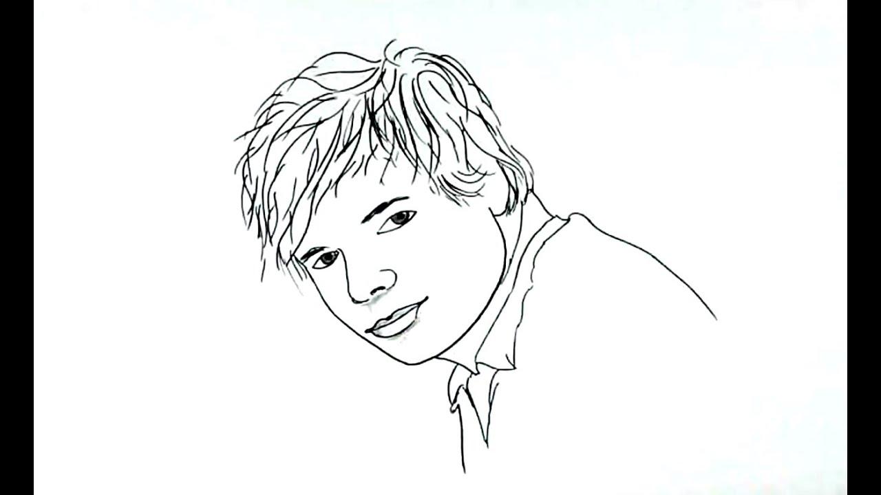 How to Draw Ed Sheeran - YouTube - photo#42