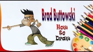 How to Draw Brad Buttowski || Brad Buttowski drawing || Easy drawing for kids