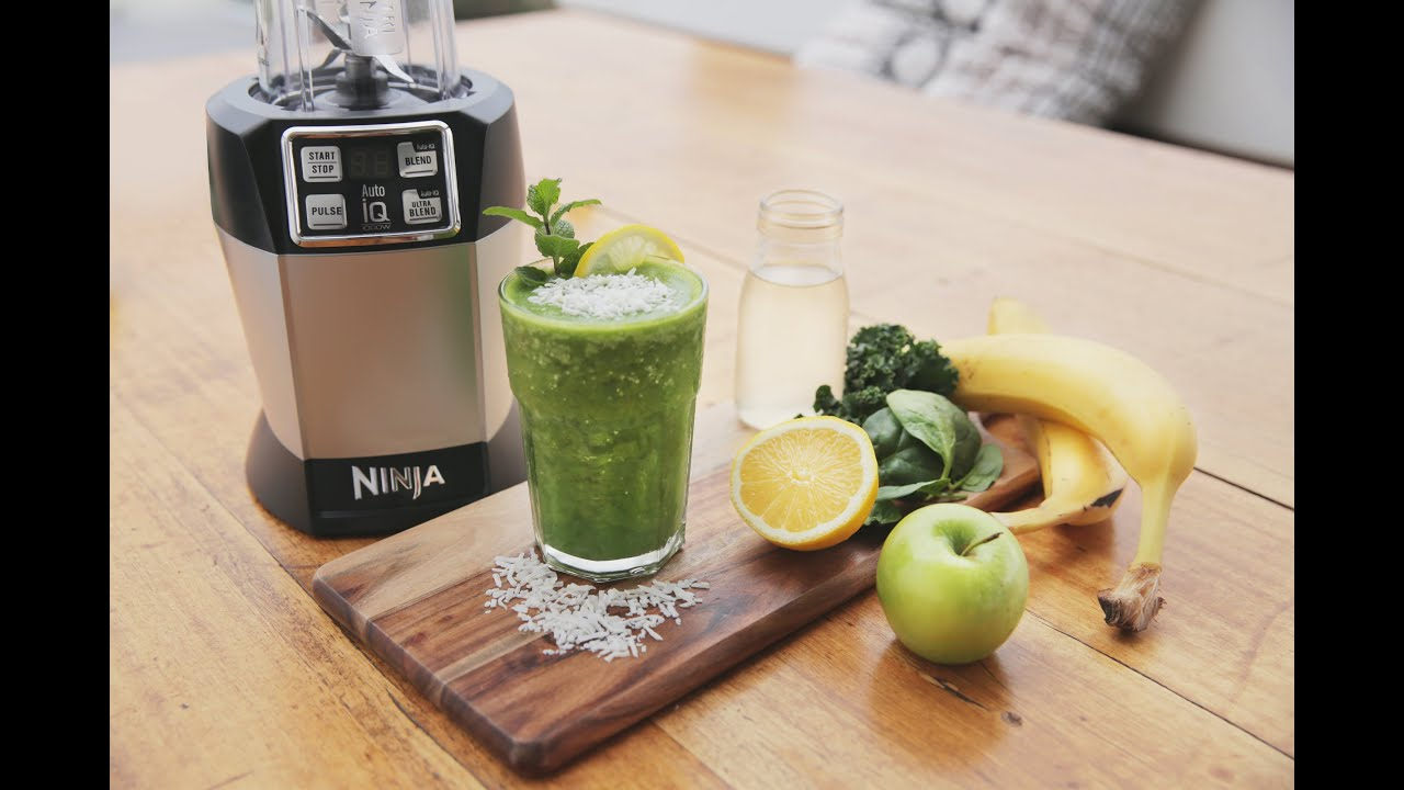 nutri ninja recipe - the incredible hulk juice with banana, kale