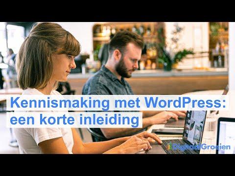 Kennismaking met WordPress
