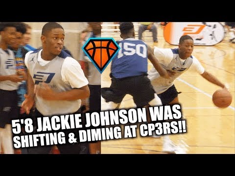 5'8 Jackie Johnson Was SHIFTING & DIMING All Weekend Long at CP3RS!!  2021 PG from Kansas