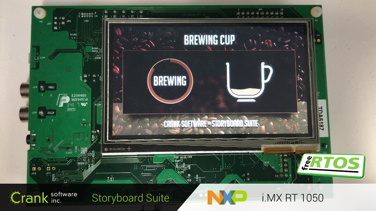 NXP's i MX RT1050 | Crank Software Storyboard