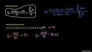 Aritmetična sredina (povprečje)